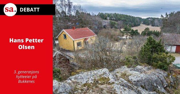 Det er flere grunner til at en tilsynelatende «liten fillesak» om bygging av hytter på Bukkenes er prinsipielt viktig, skriver Hans Petter Olsen i dette innlegget.