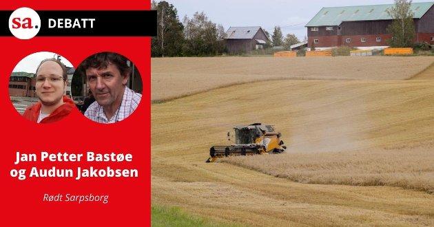 Rødt vil fremme forslag om egen landbruksplan for Sarpsborg kommune ved arbeid med ny handlingsplan, skriver Jan Petter Bastøe og Audun Jakobsen i dette innlegget. Illustrasjonsfoto.