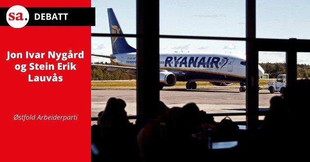 SLUTT: Da Ryanair trakk seg ut av Rygge i 2016, ble det slutt på all drift.