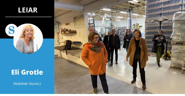 OPNING: Landbruks- og matminister Olaug Bollestad opna det nye produksjonsanlegget til Balholm.