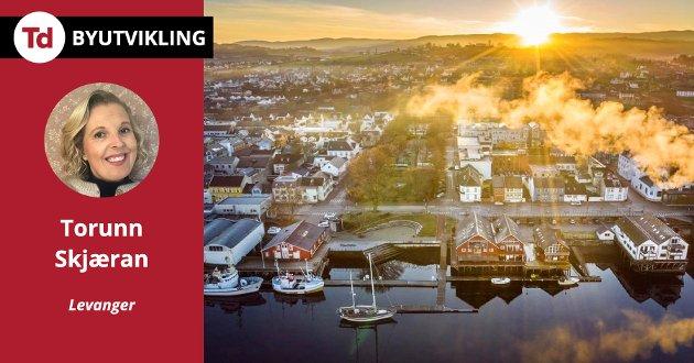 Jeg tror det å styrke Levangers identitet som trehusby og formidle kunnskap om kulturmiljøet vil blir avgjørende for byens fremtid, skriver Torunn Skjæran.