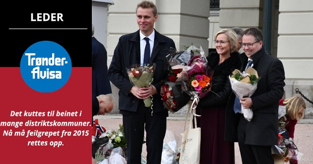 OMFORDELING: Den nye regjeringen har mer enn nok grunnlag for å legge fram kraftfulle endringer i fordelingen mellom kommunene, mener Trønder-Avisa på lederplass.