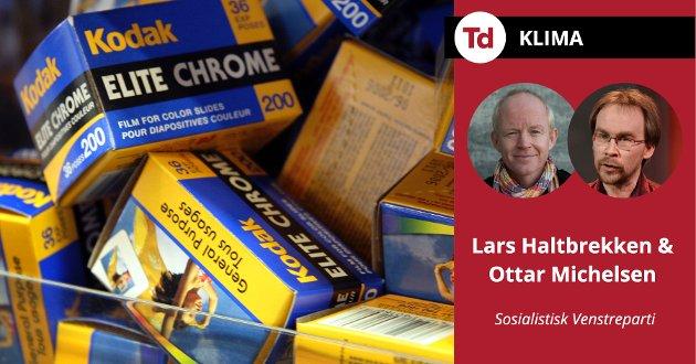 Ola Borten Moe gjør seg til en forkjemper for at Norge skal bli nasjonenes svar på Kodak. Landet som kunne omstille, men ikke skjønte hva som foregikk, skriver Lars Haltbrekken og Ottar Michelsen (SV).