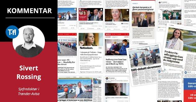 Skremmekampanje: Dette er noen av oppslagene, Facebook-oppdateringene og debattinnleggene hvor Høyre går knallhardt ut mot de rødgrønne partiene de siste dagene.
