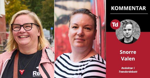 På Trønderbenken blir Rødt nå like store som Høyre. Det er sensasjonelt. Som et svar på Arbeiderpartiets rop om at «nå er det vanlige folks tur» stormer to vanlige damer fra Rødt inn på Stortinget: Hanne Lise Fahsing må søke permisjon fra jobben i 1881, og det blir minst fire års pause fra barnehagejobben for Hege Bae Nyholt.