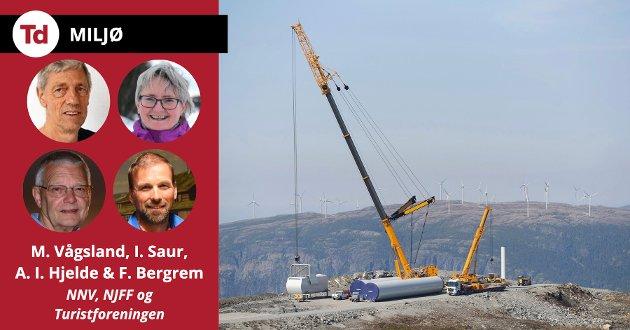 Vindindustrien skaper nesten ingen varige arbeidsplasser i Norge, den er snarere en trussel for de mange som er sysselsatt innenfor turistnæringen. Heller enn å bygge naturødeleggende og konfliktfylte vindkraftanlegg, bør Norge satse målrettet på energieffektivisering, skriver de fire innleggsforfatterne.