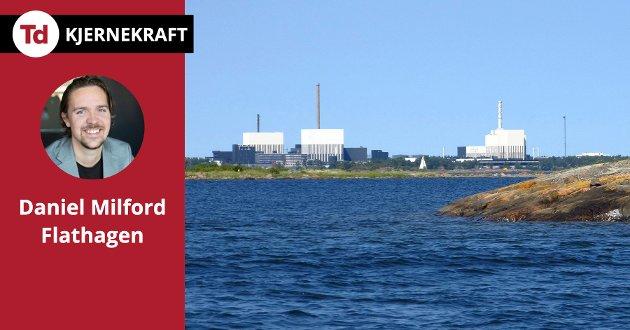 Politikk er å sammen diskutere oss frem til de beste løsningene. Hvordan kommer vi dit når noen av løsningene er fullstendig tabu? La oss ta kjernekraft på alvor, skriver Daniel Milford Flathagen. Bildet viser atomkraftverket i Oskarshamn i Sverige.