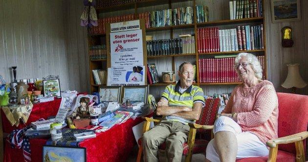Ole-Jacob Røren sammen med samboeren Bodil Gryting. Arkivfoto