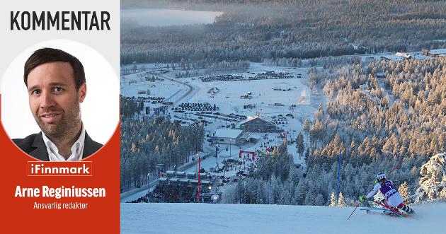 FANTASTISK ANLEGG: Levi har bygget opp en hel by rundt et fantastisk alpinanlegg, og arrangerer også World cup. Noe lignende bør vi gjøre i Finnmark for å få fart på reiselivet.