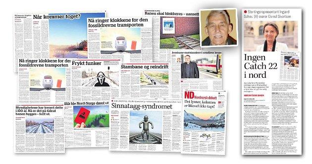 Jernbaneentusiast og pensjonist Eivind Sivertsen fra Bardufoss har i løpet av de siste 4-5 årene skrevet rundt 60 innlegg om Nord-Norgebanen, publisert i Nordnorsk debatt.  Nå har han for første gang fått direkte respons fra høyere hold - fra stortingsrepresentant og saksordfører for nordområdemeldinga, Høyres Ingjerd Schou.