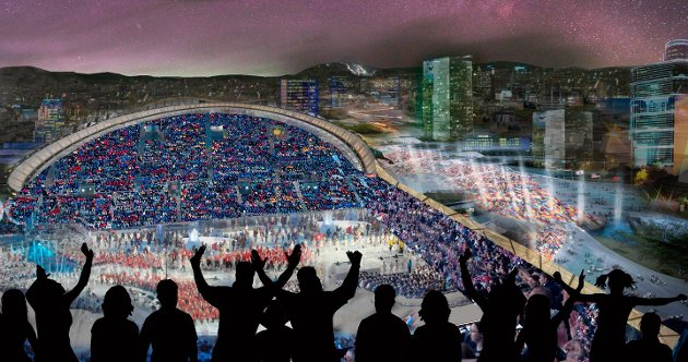 Slik kunne åpningsseremonien under et vinter-OL i Norge sett ut, om planen for å arrangere det i Oslo i 2022 hadde blitt noe av.