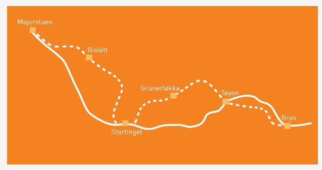 Ruters forslag til ny tunnel