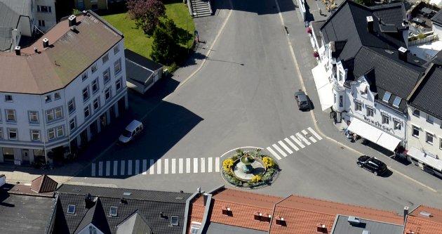 Chr. Hvidts Plass: Man bør holde den generelle maksimale høyden på 5+1 etasje, skriver Kristen Grieg Bjerke. Foto: Olaf Akselsen