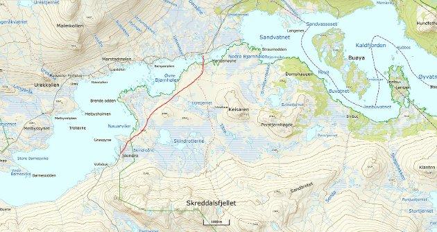 Øystre Slidre Jeger- og fiskerforening (ØSJFF) viser til innlegg i avisa Valdres der Øystre Slidre kommune planlegg sykkeltrase fra Skindro til Straumen ved Vinstervatn i Langsua nasjonalpark og har satt av 3,5 millioner i sitt budsjett. Kommunen ved ordfører uttaler at det er kommunestyret som har ønsket å se på en slik trase.
