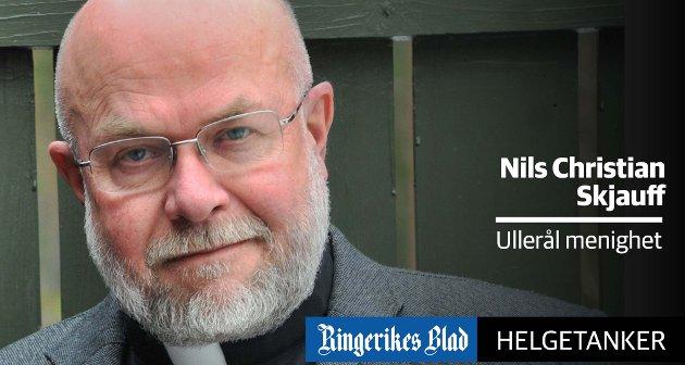 SAVN: – Nå under pandemien har vi ikke fått lov til å samles til gudstjenester. Det har vært et stort savn, skriver Nils Christian Skjauff.