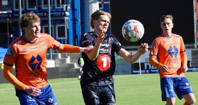 KBK dominerte kampen mot Aalesund etter at den offensive løpsmaskinen Olaus Skarsem kom innpå i 2. omgangen. Foto: Anders Tøsse