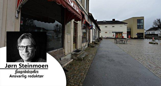 FÅ FART I SENTRUM: Gjør Vestsida til en testarena for fremtidens handel, mener ansvarlig redaktør Jørn Steinmoen.