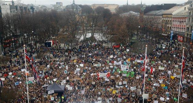 Krever handling: Ifølge innsenderen legger regjeringens statsbudsjett kun opp til å kutte en brøkdel av de utslippene som må kuttes for at Norge skal gjøre sin del for å nå 1,5-gradersmålet. Antun mener politikerne må vise de unge skolestreikerne mer respekt og handle.