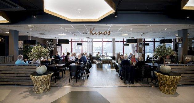 På Lillestrøm torv: Kino's ligger inne på Lillestrøm Torv og er en av byens mest populære møteplasser. På menyen står blant annet norsk husmannskost. ALLE FOTO: VIDAR SANDNES