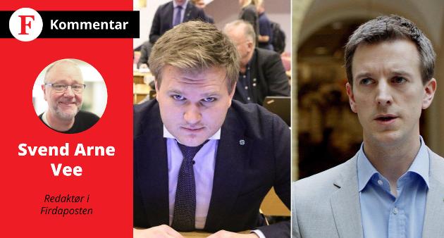 STÅR DEI LØPET? Senterpartiets listetoppar Alexander Øren Heen og Erling Sande har lukkast på strålande vis med å sanke veljarar basert på misnøye med reformar og samfunnstrendar. Men klarar dei å halde posisjonen fram mot valet?