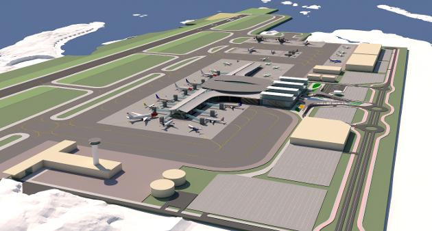 Flytrafikken MÅ bli klimanøytral, og løsningen er fly drevet avhydrogen og syntetiskedrivstoffer. Men alle planer for Bodøs nye flyplass bygger på en flyplass for fossile fly. Dermed vil flyplassen om 10-15 år være akterutseilt, skriver Einar Sørensen. (Illustrasjon: Avinor)