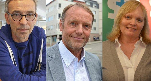 Konstituert sjefredaktør i Helgelendingen, Rune Pedersen, sjefredaktør i Avisa Nordland, Jan-Eirik Hanssen og konstituert sjefredaktør i Rana Blad, Marit Ulriksen.