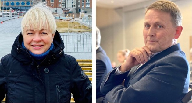 USMAKELIG: Høyres Nina Dons-Hansen og Nils Johan Holte kaller varaordførerens uttalelse om at partiet driver et korstog mot Visit Harstad et stigmatiserende offentlig utbrudd.