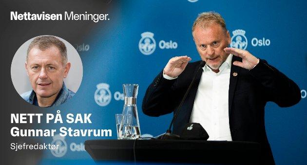 OSLO, NORGE 20210505.  Byrådsleder Raymond Johansen under orientering om koronasituasjonen. Foto: Berit Roald / NTB