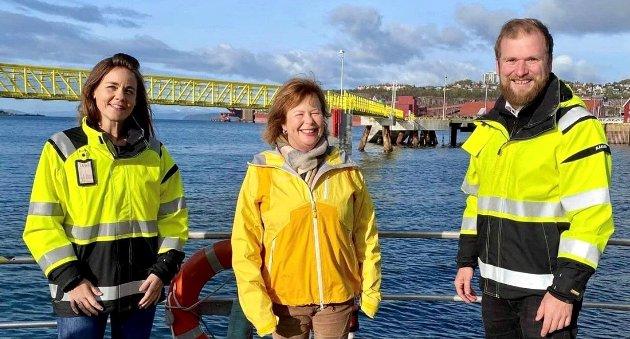 Trine Fagervik, Siv Mossleth og Willfred Nordlund vil ha flere helårige arbeidsplasser langs kysten