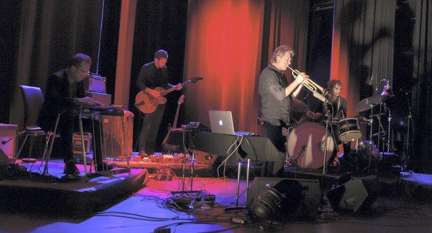 Flott konsert: Nils Petter Molvær Group lverte til de grader varene i Blå Grotte torsdag kveld.