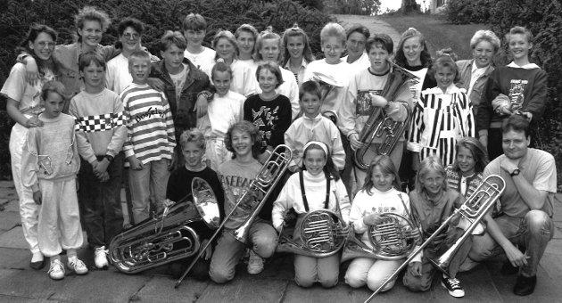 Jeløy skolemusikkorps, juni 1991.