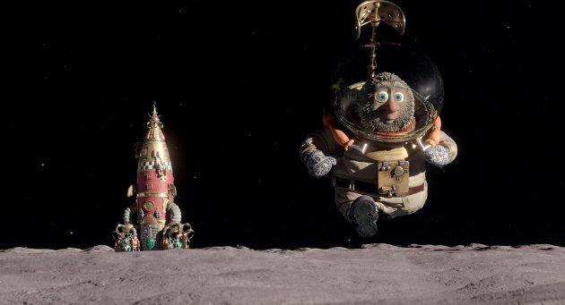PÅ MÅNEN: Se hvem som reiste til månen i Reodor Felgens hjemmesnekra rakett. Men det var ikke bare han som ble med på reisen.