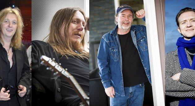 Musikk som levebrød: Trond Holter (fv), Freddy Holm, Henning Kvitnes og Geir Sundstøl har gjort en rocka guttedrøm til virkelighet.