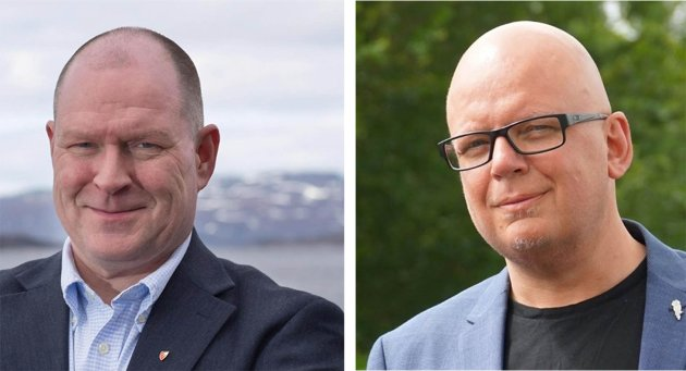 HØYRE: Ordførerkandidat Eilif Johannesen og listekandidat Runar Nergaard.