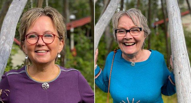 Til venstre Mari-Ann Benonisen, leder Lakselvbukt Arbeiderlag og kommunestyrerepresentant AP i Tromsø kommune og til høyre er Walborg Fossan, nestleder Lakselvbukt Arbeiderlag