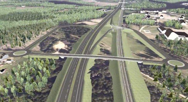 NY VEI OG BANE: Vi ser fram til at Ringeriksbanen og E16 nå endelig bygges og skaper grunnlag for en framtidsrettet transportløsning lokalt, regionalt og nasjonalt, sier lokale næringslivsledere i dette innlegget. Illustrasjon: Jernbaneverket/Statens vegvesen
