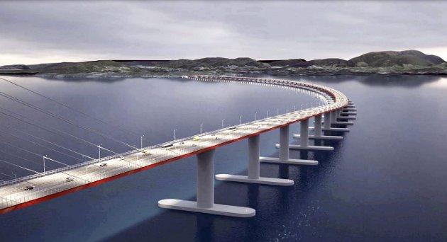 Det er på tide monsterbroen over Bjørnefjorden får samme skjebne som prosjektet mellom Moss og Horten, skriver Erling Gjelsvik. Illustrasjonsfoto: Statens vegvesen