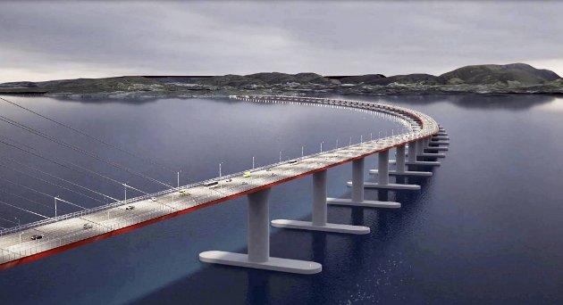 Statens veivesen prioriterer Hordfast fordi broen gir størst samfunnsmessig gevinst. ILLUSTRASJON: STATENS VEGVESEN