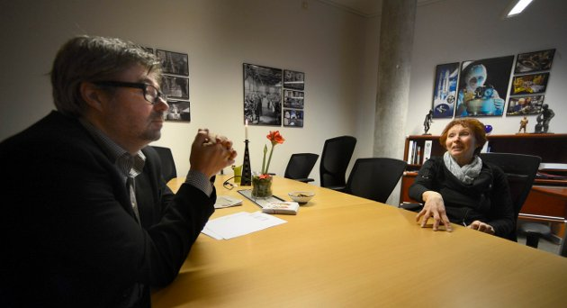 GODT SAMARBEID: Festivalsjef Kai Gustavsen og ordfører Kari Anne Sand har begge et ønske om at festivalen må leve videre, selv om den blir avlyst i år.