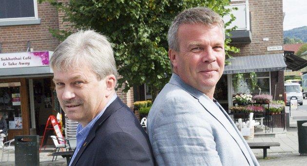 Full lønn:  Fra 1. september har Ringerike både ordfører og varaordfører i full lønn, Kjell B Hansen og Dag E. Henaug. Foto: Espen Ødegård