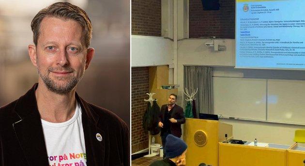 """Debatten har flere aspekter, som dels isoleres helt innenfor ett fagområde, og dels blandes sammen. KRF-lederen i Troms og Finnmark trekker akkurat ut de elementene som passer ham, og mistenkeliggjør alt annet som """"ideologi, skriver Helge Ytterøy L'orange, Leder i Åpne Høyre"""