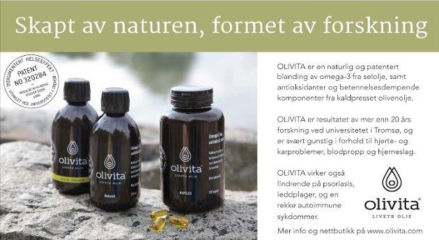 Slik markedsfører Olivita seg selv på sine nettsider.