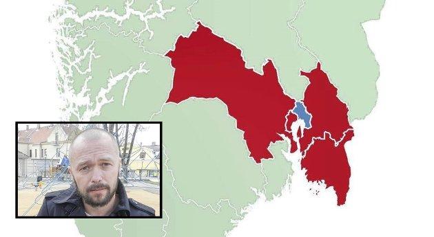 Arve Sigmundstad, gruppeleder i Halden Arbeiderparti, sier nei til Region Viken.