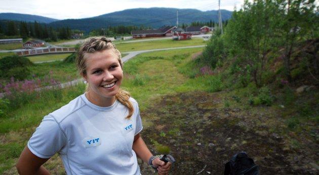 Karianne Bjellånes hjemme på sommertrening i 2009.