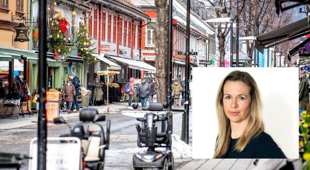 GÅGATA: Aldrende befolkning, nedlagte butikker og økt netthandel må få varsellampene til å blinke. Lillehammer trenger et ungdommelig løft.