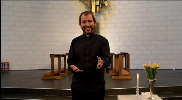 FØRSTE PÅSKEDAG: Ungdomsdiakon Michael Skappel Zülow er forrettande prest under første påskedags-gudstenesta i Jørpeland kyrkje.