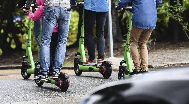 Flere summere er bekymret for løperhjul-kjøringen i sentrum.