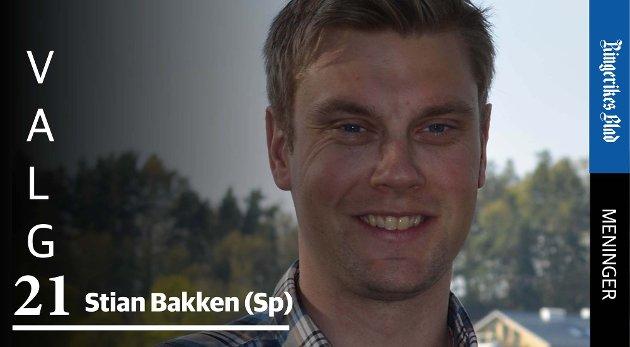 VIL LØSE OPP: – Senterpartiet går ikke inn i en regjering som ikke oppløser Viken, skriver Stian Bakken (Sp).