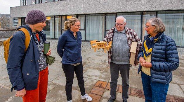 De vil forme Ås sentrum, fra venstre Sille Winsnes, Grethe Johnsen, Lasse Hjermundrud og Tone Molland.
