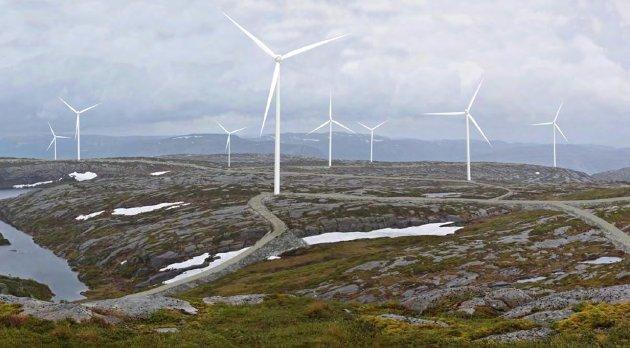*** Local Caption *** Illustrasjon fra Fl¾in FOTO: Konsesjonss¿knad Buheii vindkraftverk/ Multiconsult